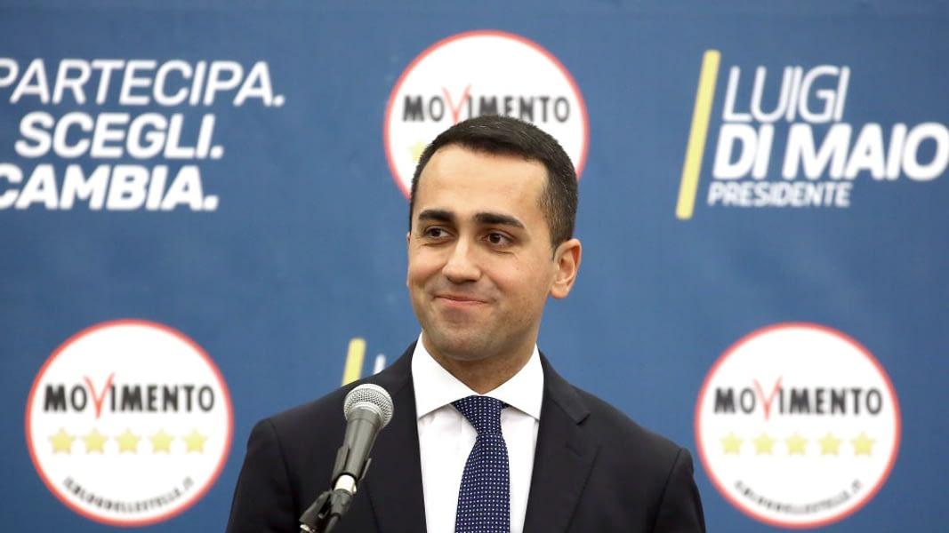 Five Star Movement candidate premier Luigi Di Maio attends a press conference at the party headquarter on March 5, 2018 in Rome, Italy. Franco Origlia / Getty