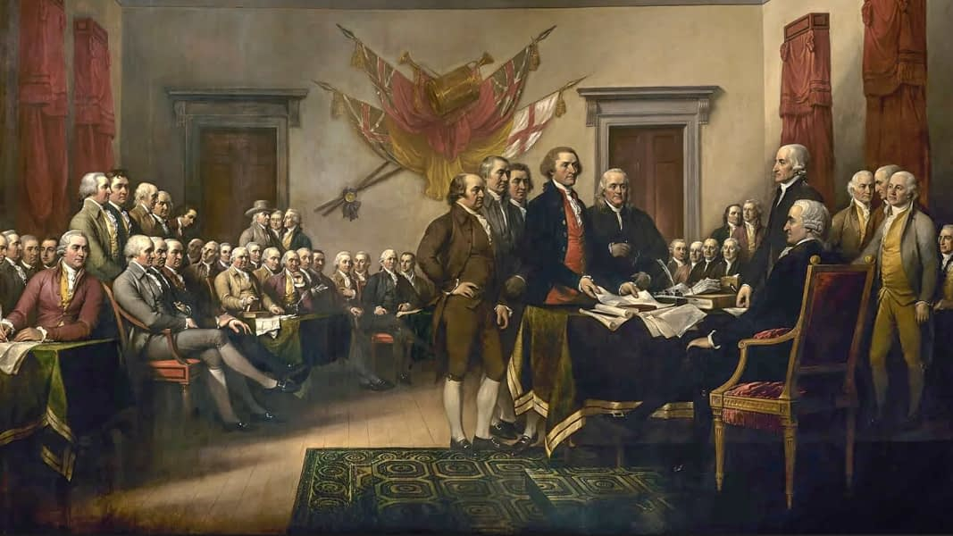 Painting by John Trumbull.
