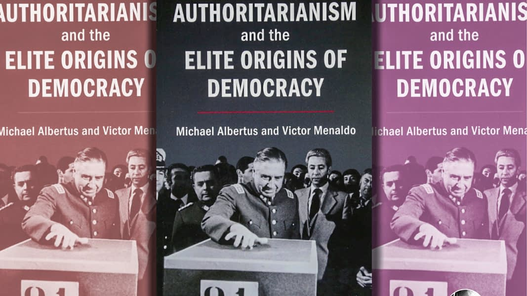Book cover fro Authoritarianism and the Elite Origins of Democracy
