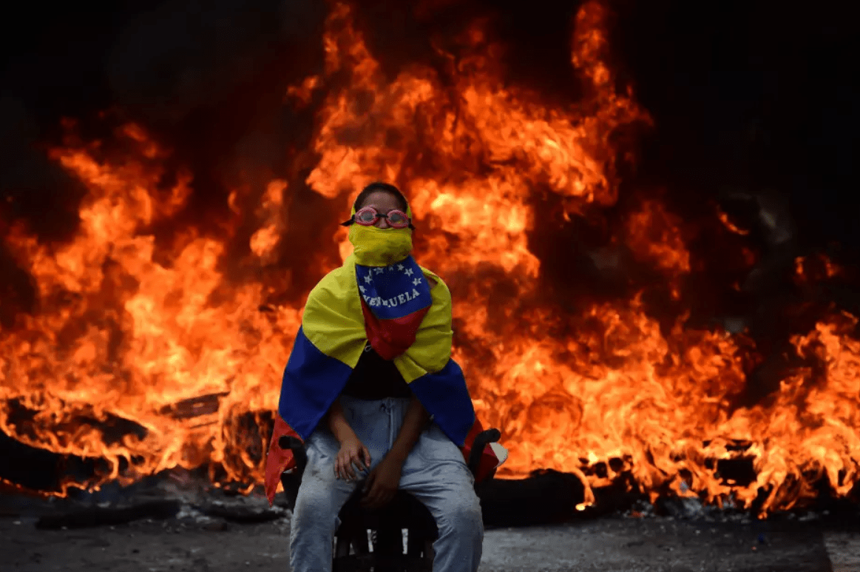 Venezuelan protester