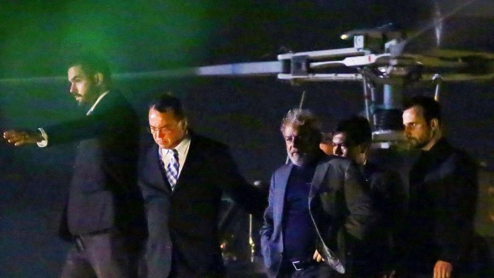 Lula taken into custody on fake charges.