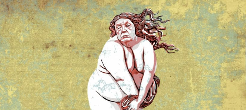 Trump as Venus by Mr. Fish