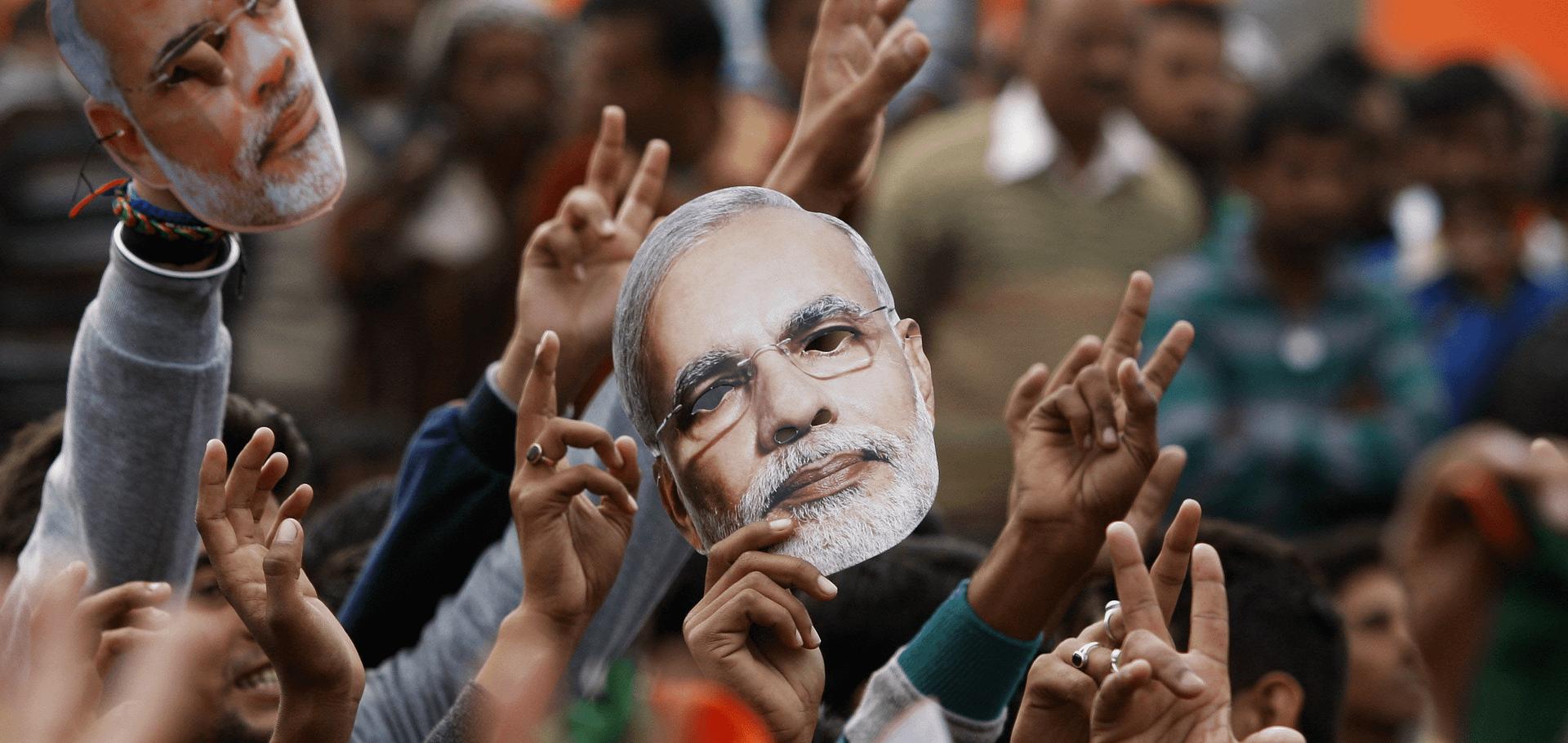 Modi supporters in India