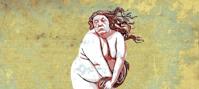 Trump as Venus by Mr. Fish
